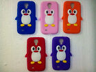 soft back case silicone cover for samsung galaxy s4 i9500 penguin design new