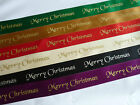 Merry Christmas Double Sided Satin Ribbon 3 metrex25mm-Cards/Presents/Bomboniere