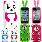 CUTE GORGEOUS FUNNY 3D BEAR PANDA BUNNY SOFT SILICONE ANIMAL SKIN COVER CASE