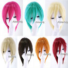 Hot Sell 7 Colors 30cm Short Layered Style Anime Cosplay Hair Wig UK Store