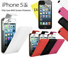 Executive PU Leather Flip Case Cover for Apple iPhone 5S Black, Pink, Red, White