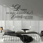X LARGE HARRY POTTER QUOTE DREAMS ENTER WORLD THAT S OWN WALL DECAL STICKER ART