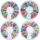Nail Art 3D Rivets Rhinestones Decoration Mixed Shaped Stud Round Wheel Manicure