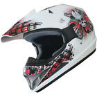 Motocross DirtBike ATV Off Road racing Motorcycle Helmet DOT 180 white/red