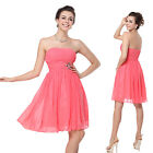 Ever Pretty Short Chiffon Cocktail Bridesmaid Formal Prom Womens New Dress 03601