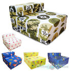 Children's Fold Out Single Futon Z Bed Chair Sleep Over Sofabed Kids Guest Sofa