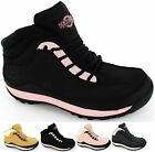 LADIES SAFETY TRAINERS STEEL TOE CAP WORK HIKING LACE UP WOMENS BOOTS  NEW STYLE