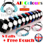SHAMBALLA CRYSTAL DISCO BALL BLING BRACELET SHAMBALA DIAMANTE WATCH 8 Balls Gift