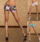Sexy Jeans Hot Pants of thin denim fabric with flower pattern Shorts size 8-12