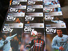 08/09 Manchester City Home Programmes   ( v Your Choice)