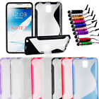S-Line Wave Soft TPU Gel Stand Case Cover for Samsung Galaxy Note 3 III N9000