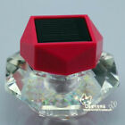 1PC Solar Car Perfume LED Neon Scent Bottle color changing lamp Crystal D046