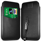 CARD SLOT PU LEATHER PULL FLIP TAB CASE COVER & RETRACTABLE PEN FOR APPLE PHONES