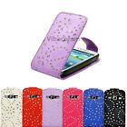 PREMIUM SPARKLING MOBILE PHONE FLIP CASE COVER FOR SAMSUNG GALAXY S3 I9300 I9305