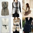 New Hot Fashion Women Winter Warm Faux Fur Long Vest Jacket Coat US2-4-6-8-10-12