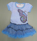 Girls Toddler Blue Tutu Party Dress Tutu Party play Butterfly new short sleeve