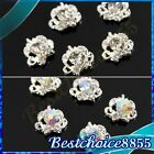 12x Bling Alloy Vintage Rhinestones Hollow Cut Crown 3D Nail Art DIY Decorations