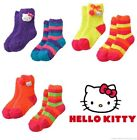 HELLO KITTY 2-Pack Super-Soft Plush Slipper Socks Toddlers/Girls Ages 3-10 14
