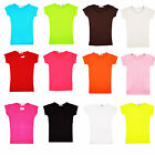 MINX Girls Plain Short Sleeve Kids Top Children Crew Neck Summer T-Shirt 2-13 Y