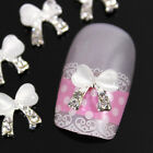 Multi Bowtie Styles Alloy Rhinestones Glitters for 3D Nail Art Tips Decorations