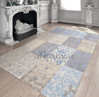 Cameo Multi Gustavian Blue Patchwork Rugs - 8237