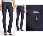 $176 NWT HUDSON JEANS CARLY STRAIGHT LEG FLAP POCKET STRETCH DARK LISA 25 TO 29