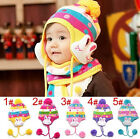 Kid's Scarf Little Rabbit thicken Baby Hat Children's Hat With Mini Scarf W5