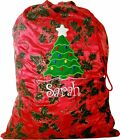 Personalised Christmas Sack - Christmas Tree design - 2 sizes -  Any Name