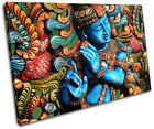 Lord Krishna Hindu Religion SINGLE CANVAS WALL ART Picture Print VA