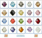 12x Swarovski Crystal Pendant 6301 & 6328 Top-drilled Bicone 6mm *Many Colours*