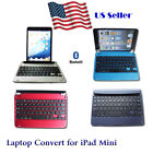 Bluetooth Wireless Keyboard Laptop Convert Cover Case Stand for Apple iPad Mini