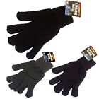 LARGE L XL MENS THERMAL QUALITY KNITTED WINTER WARM GLOVES BLACK NAVY GREY EXTRA