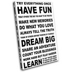 Have Fun Typography SINGLE CANVAS WALL ART Picture Print VA