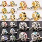 Wholesale Crystal Rhinestone Golden/Silver Big Hole Beads Fit EP Charms Bracelet