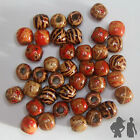 MIXED PAINTED WOOD BEADS 12 X 11mm ETHNIC MIX CRAFT SUPPLIES