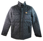 Ripstop Elite Men's Black Quilted Zip Up Puffer Jacket With Collared Neck New