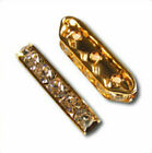 4pcs Gold-plated Rhinestone 3-strand Spacer Bar 22x7mm *Many Colours*