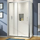 Sliding Shower Enclosure Walk In Glass Bathroom Screen Door with Stone Tray