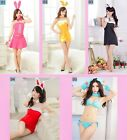 Sexy 6 Pieces Soft Fur Bunny Girl Hen Party Cosplay Fancy Dress Uniform, UK S-M
