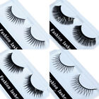 Fashion Makeup Thick Black Cross Eyelashes 10pair Fake Soft Eye Lashes Extension
