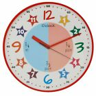 Hometime Childs Educational Wall Clock Teach The Time  in Red or Pink