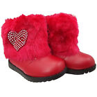 Me&U Infant Baby Girls Winter Fur Snow Patent Party Ankle Boots