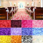HOT 100PCS SILK ROSE PETALS LEAVES WEDDING PARTY TABLE CONFETTI DECORATIONS BE4K