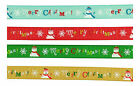 Grosgrain Christmas Ribbon 3 metres - Frosty the Christmas Snowman design