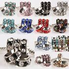 Wholesale Crystal Rhinestone Big Hole Spacer Beads Fits European Charms Bracelet