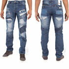 New Mens Eto Designer Flash Branded Classic Fit Jeans Pants Waist Size 28-48