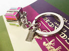 Coach Multi Charms Mix Signature Pave Crystal Turnlock Script  Keyfob Keychain