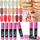 120 Colors Nail Art UV Gel Color Soak Off Polish UV LED Lamp Glitter 10ml Tips