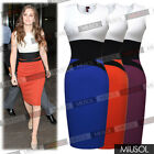Women's Elegant Celeb Midi Bodycon Pencil Evening Cocktail Dresses UK Size681024