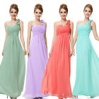 Maxi Chiffon Ladies Bridesmaid Cocktail Party Evening Dress 09768 UK Size 6-18